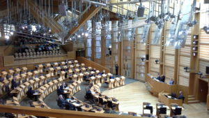 Das Schottische Parlament von innen.
