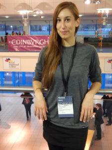 Anke Kahle während ihrer Recherchereise in Schottland.