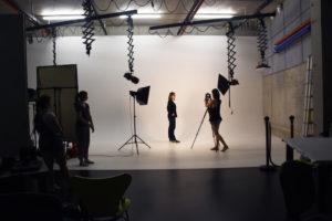 Im EMM-Fotostudio an der HdM wurde für jede Teilnehmerin ein neues Bewerbungsbild erstellt.