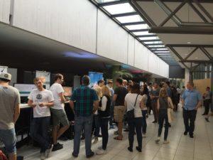 Der Ausstellungsbereich mit interessanten Apps und fesselnden Games