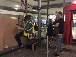 Flug mit dem Fallschirmsimulator