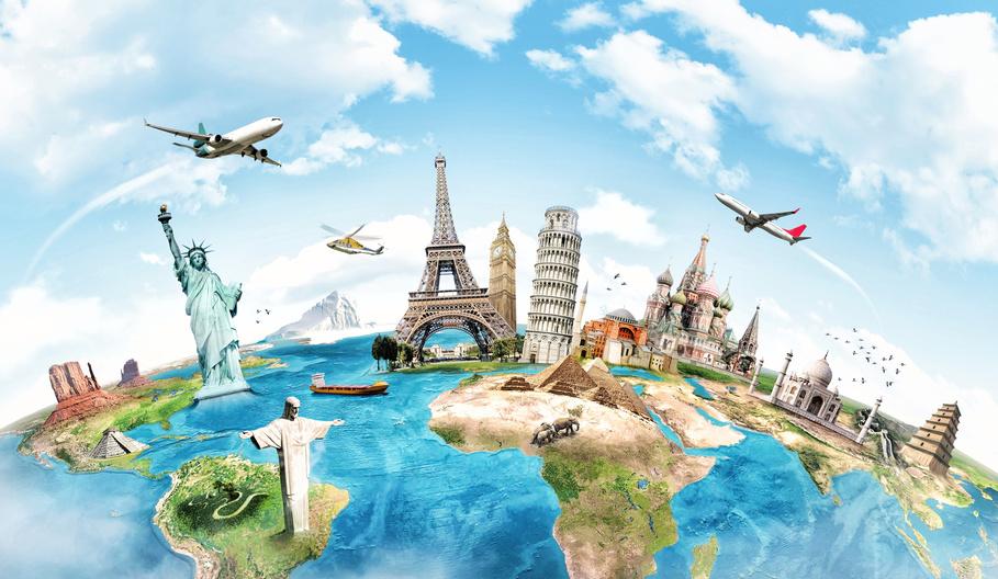Aufenthalt im Ausland per Flugzeug